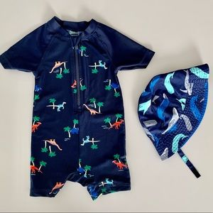 12-18 mo Summer bundle - One pc. swim suit & hat